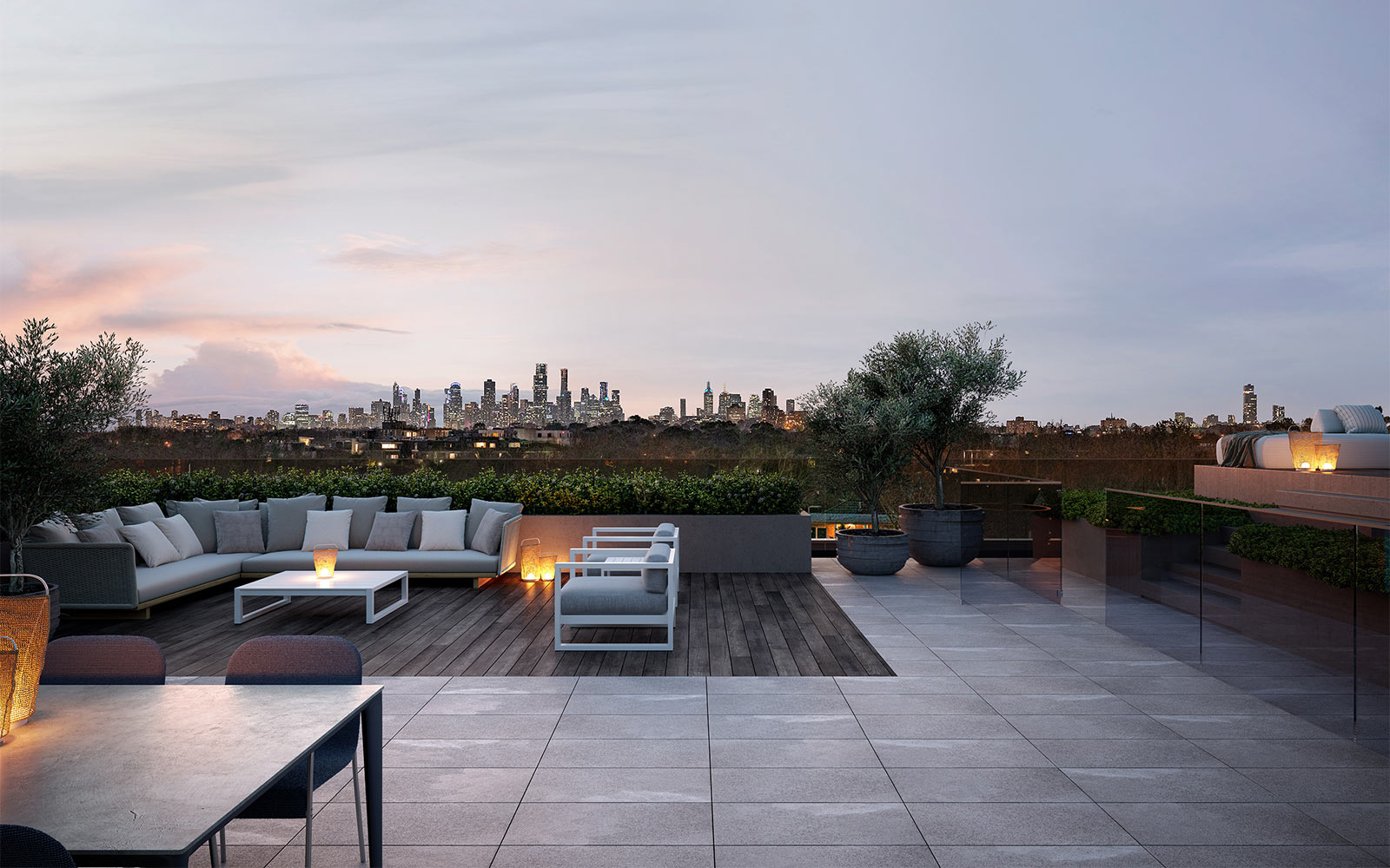 Penthouse Rooftop City View